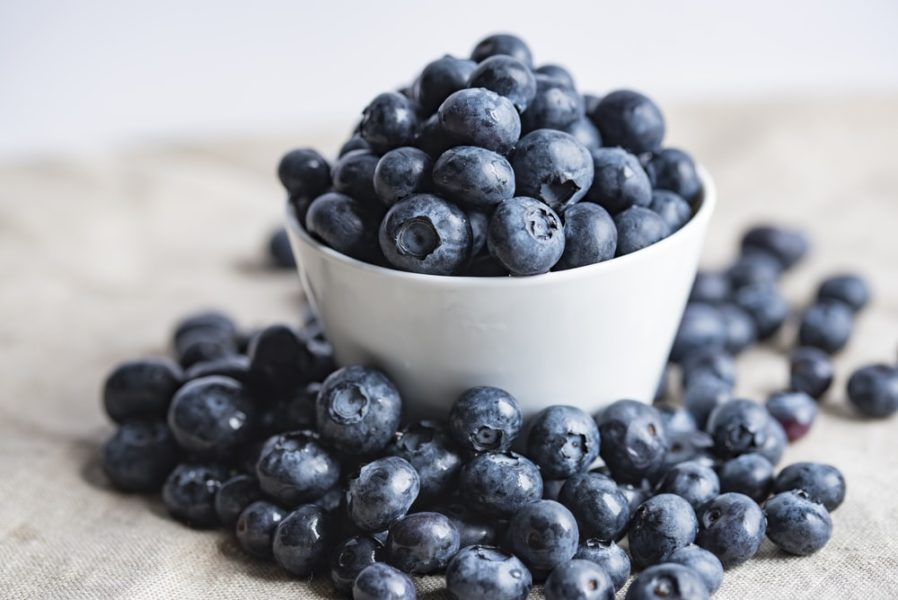 Bowl of Blueberries to use in a healthy blueberry recipe