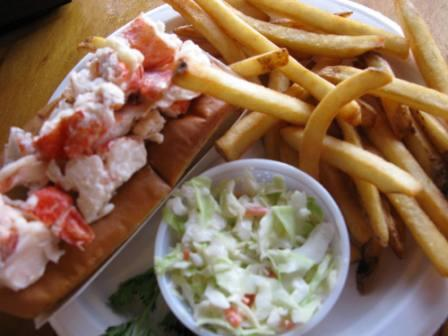 Lobster Roll at Fisherman's Catch Wells