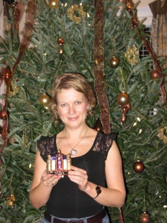 I gave Mariya a Christmas ornamate of The Fox Theater from Atlanta