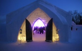 Romancing in an ice hotel