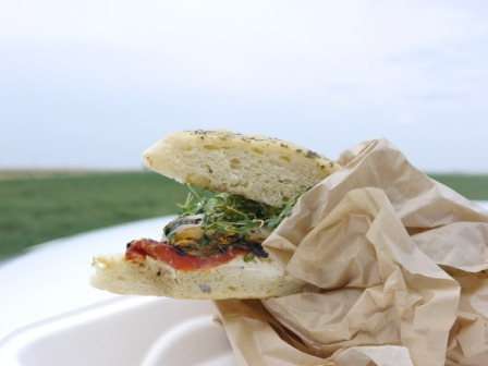 Grilled Vegetable Sandwhich
