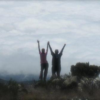 Leslie at Mount Kilimanjaro