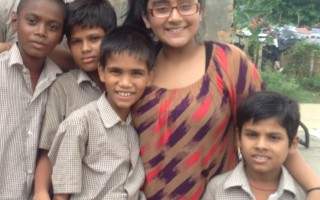 Twelve year old teacher goes to India