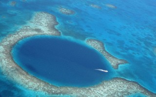 Flying Over The Great Blue Hole in Belize