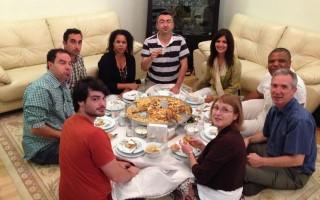 Dinner with the Yavuz family in Konya