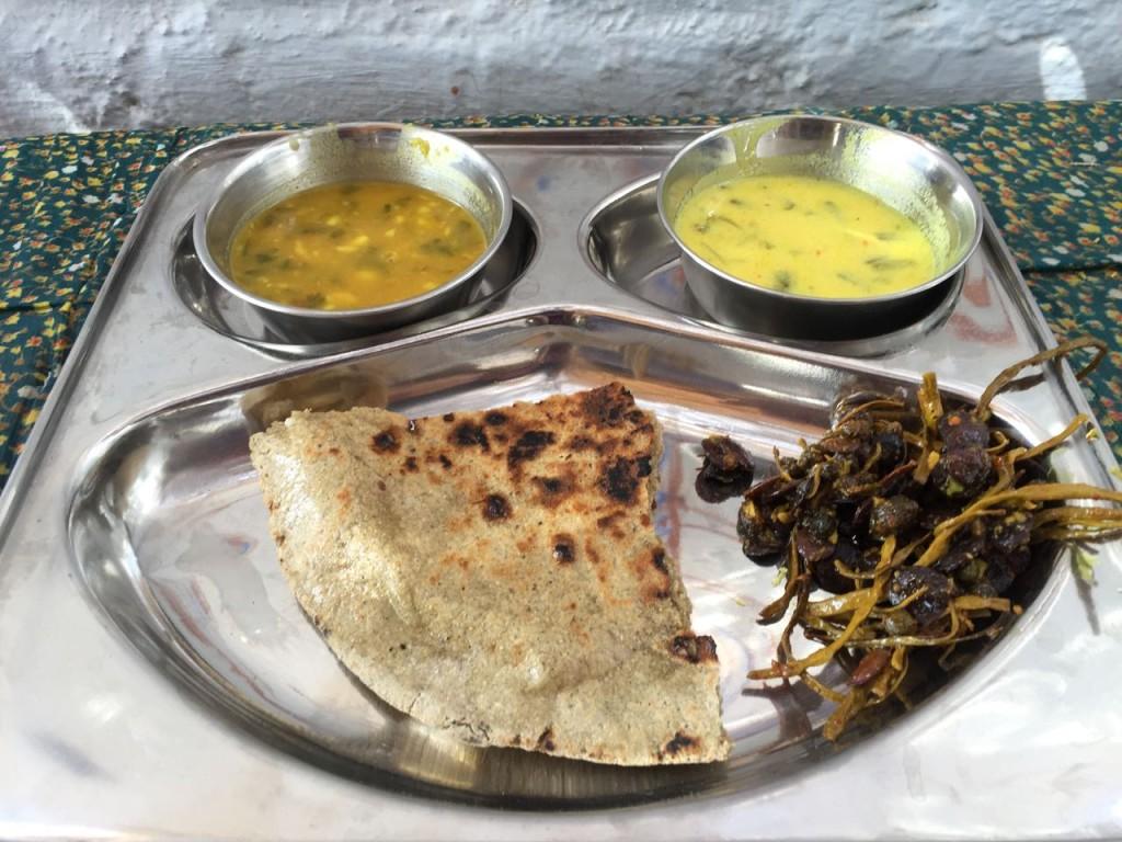 lunch in bishnoi village